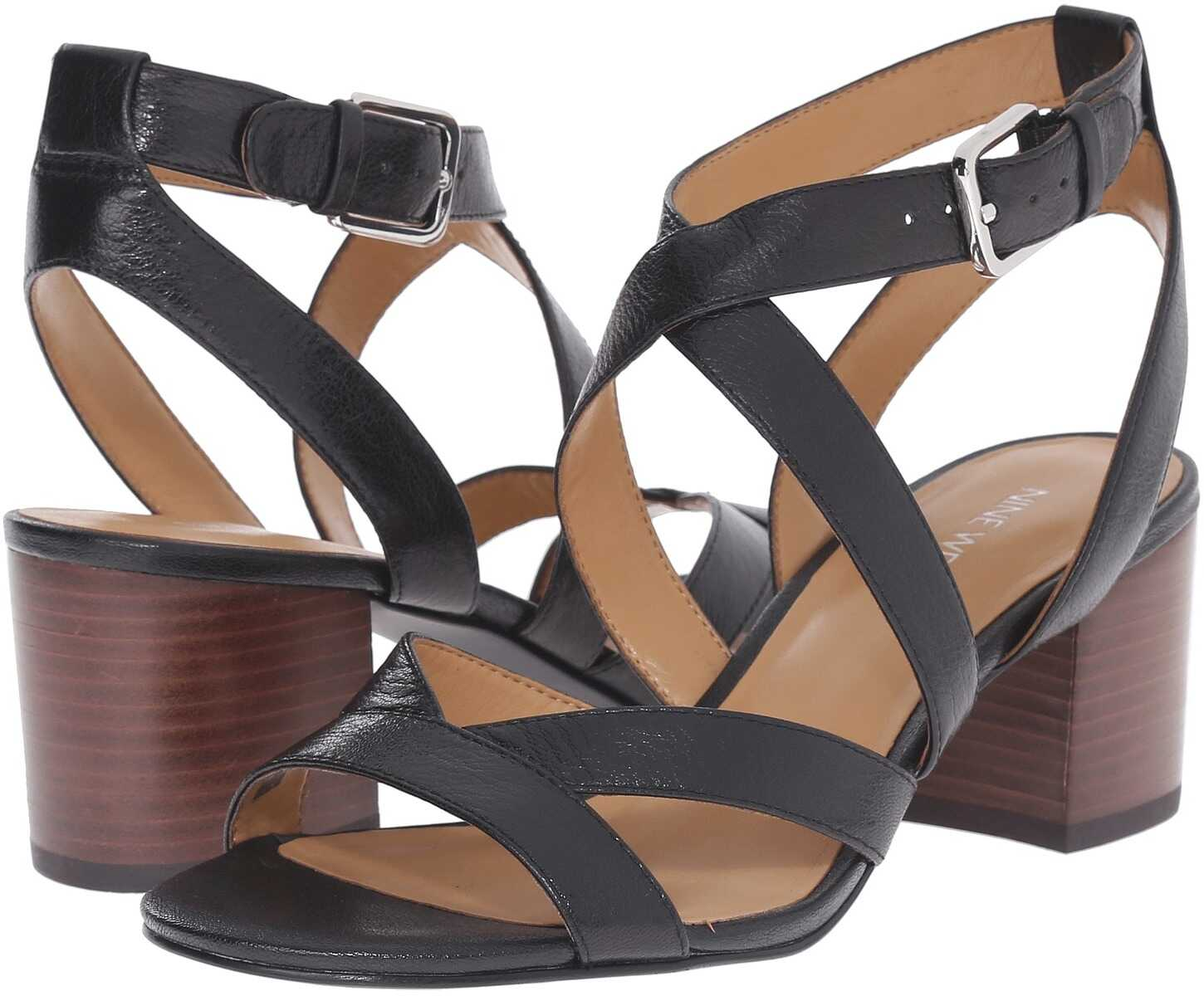 Nine West Greentea Black Leather