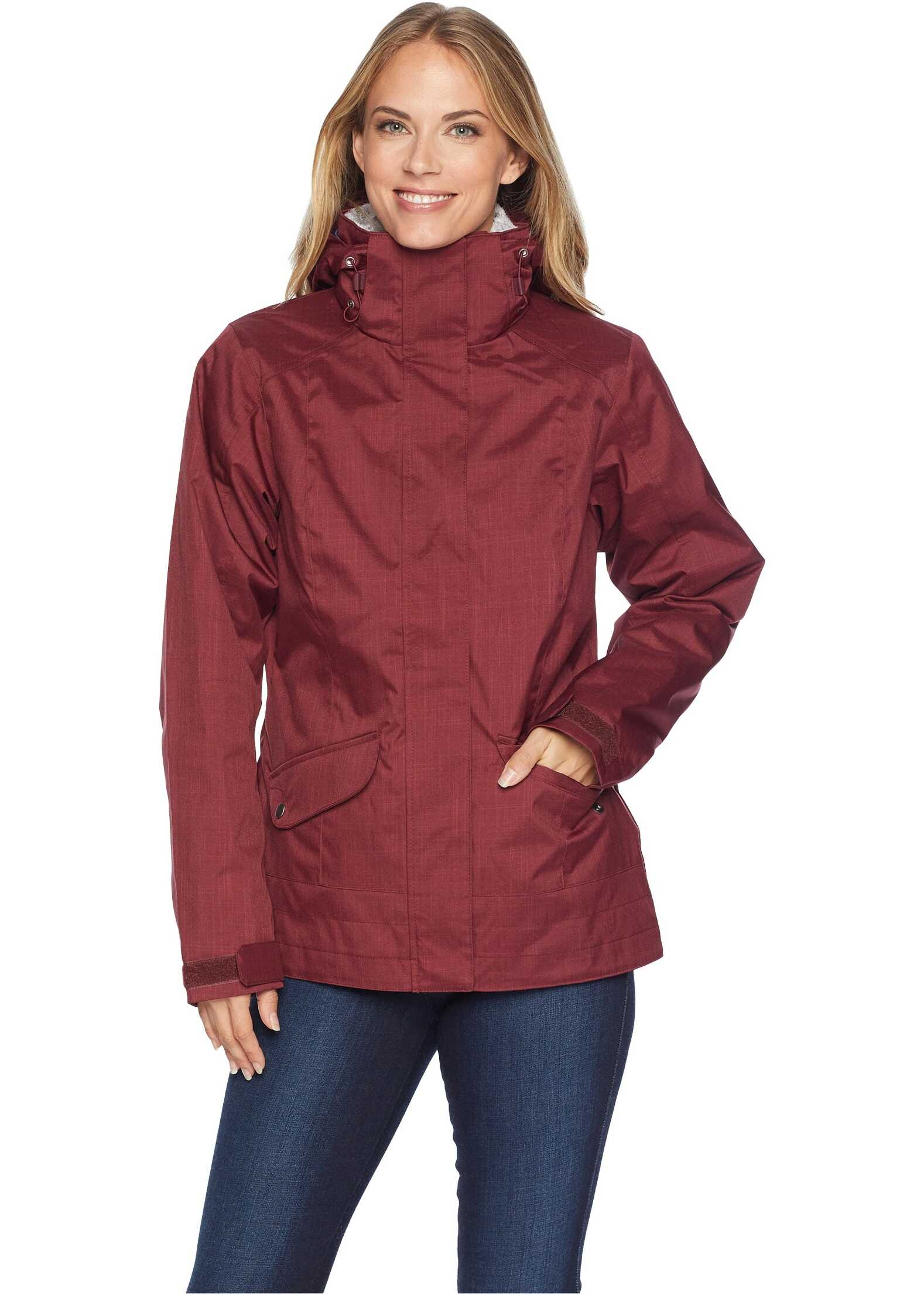 Columbia Sleet to Street Interchange Jacket Rich Wine