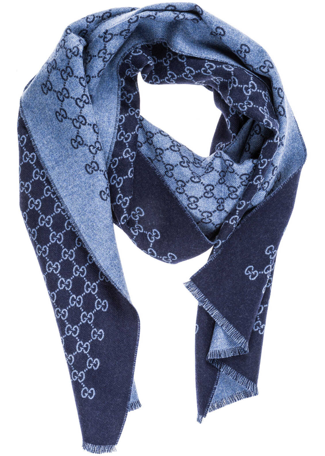 Gucci Wool Scarf Blue