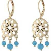 Cercei 3 Bead Disc Drop Earrings Femei