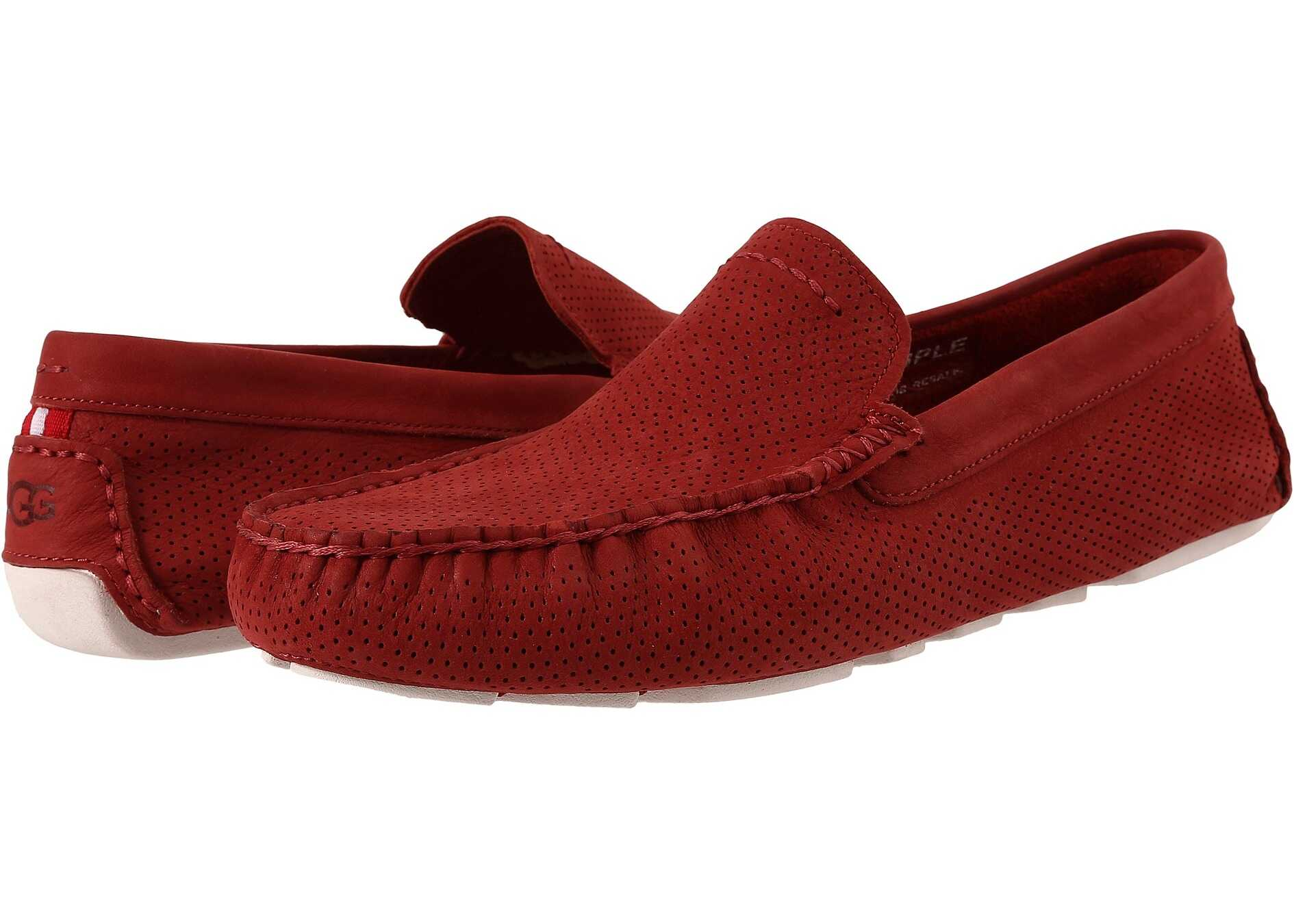 UGG Henrick Perforated Matador Red Nubuck