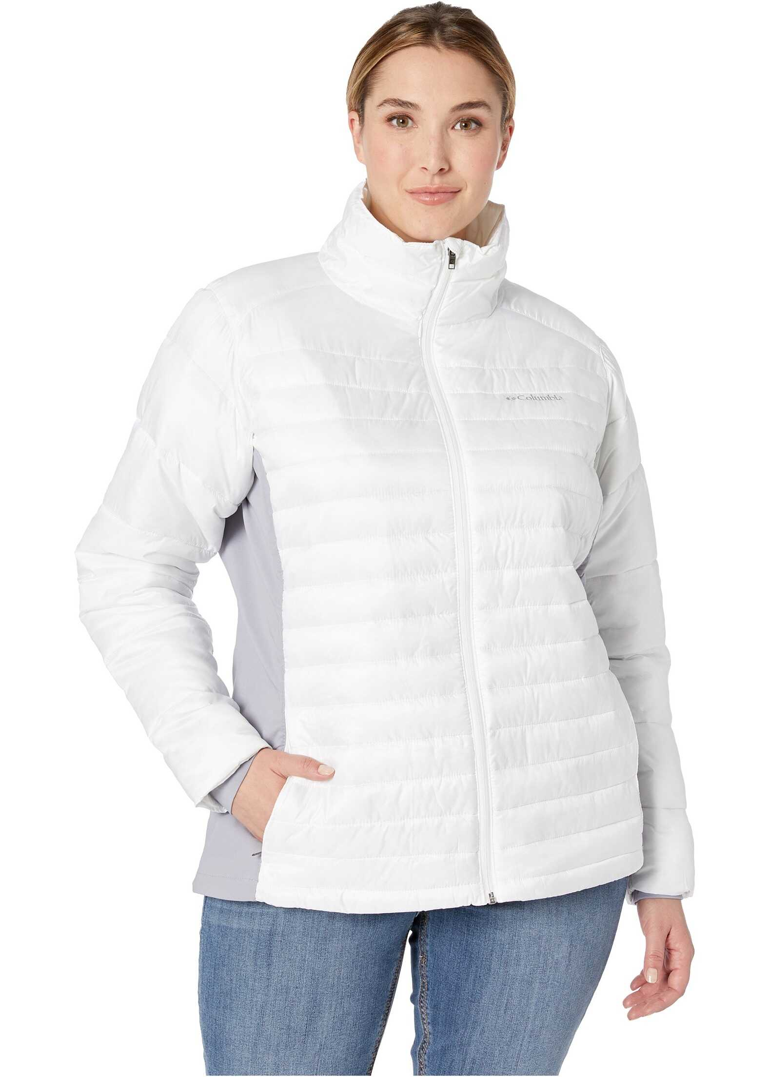 Columbia Plus Size Powder Pillow Hybrid Jacket White/Astral