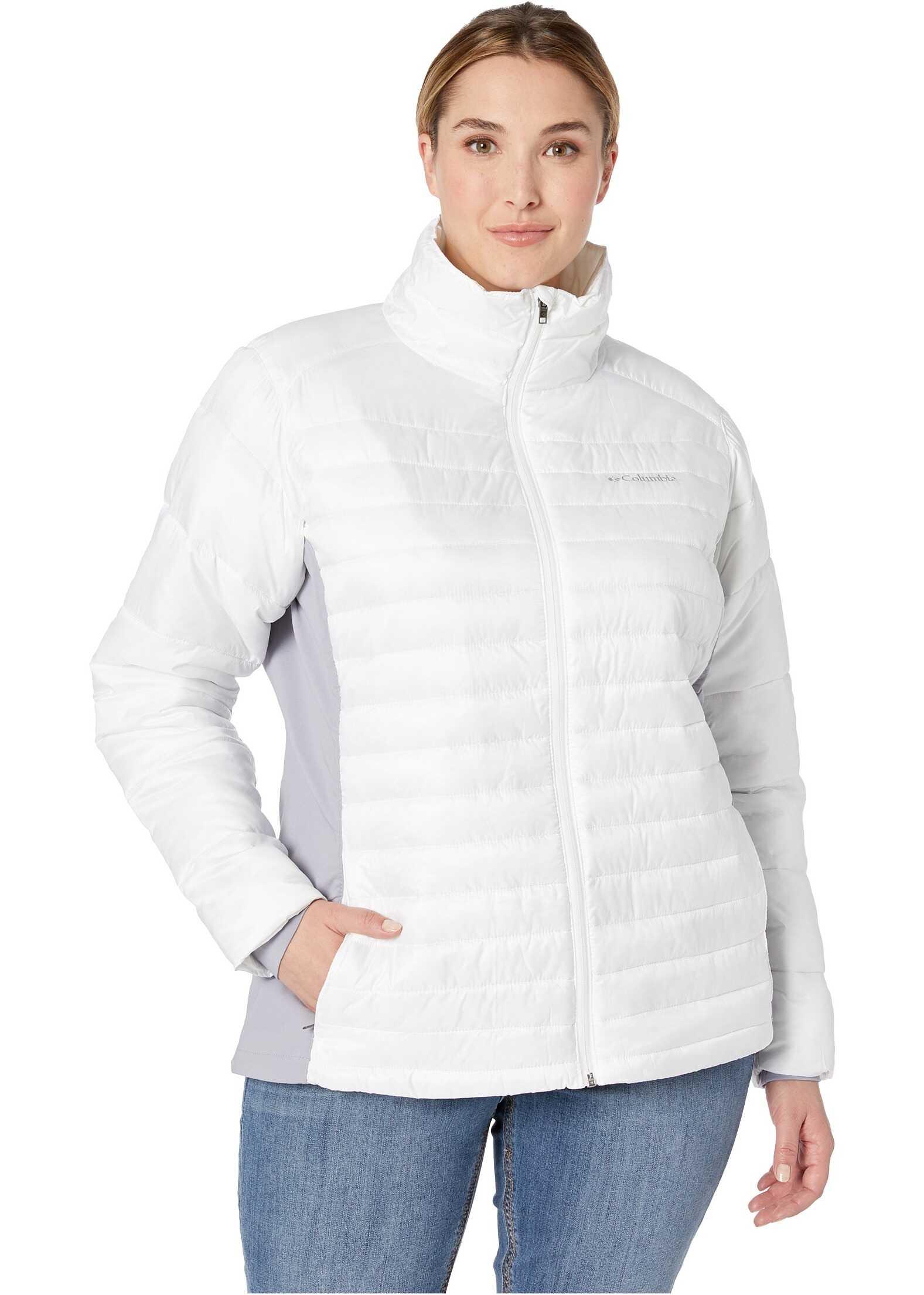 Columbia Plus Size Powder Pillow Hybrid Jacket White/Astral
