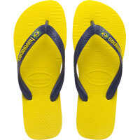 Slapi Brasil Logo Unisex Synthetic Flip Flops Yellow Barbati