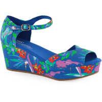 Sandale Wedges Sandals In Blue Multicolour Femei