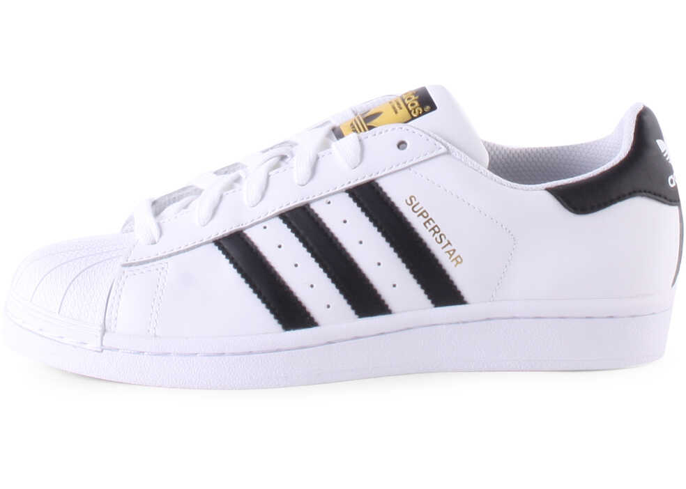 Tenisi & Adidasi Baieti adidas Superstar J Kids Trainers In White Black