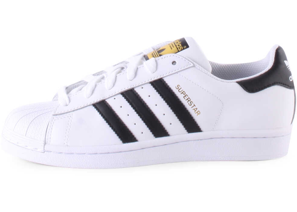 Adidas Superstar J Kids Trainers In White Black White