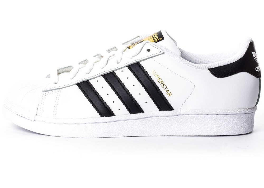 adidas Superstar Unisex Trainers In White Black White
