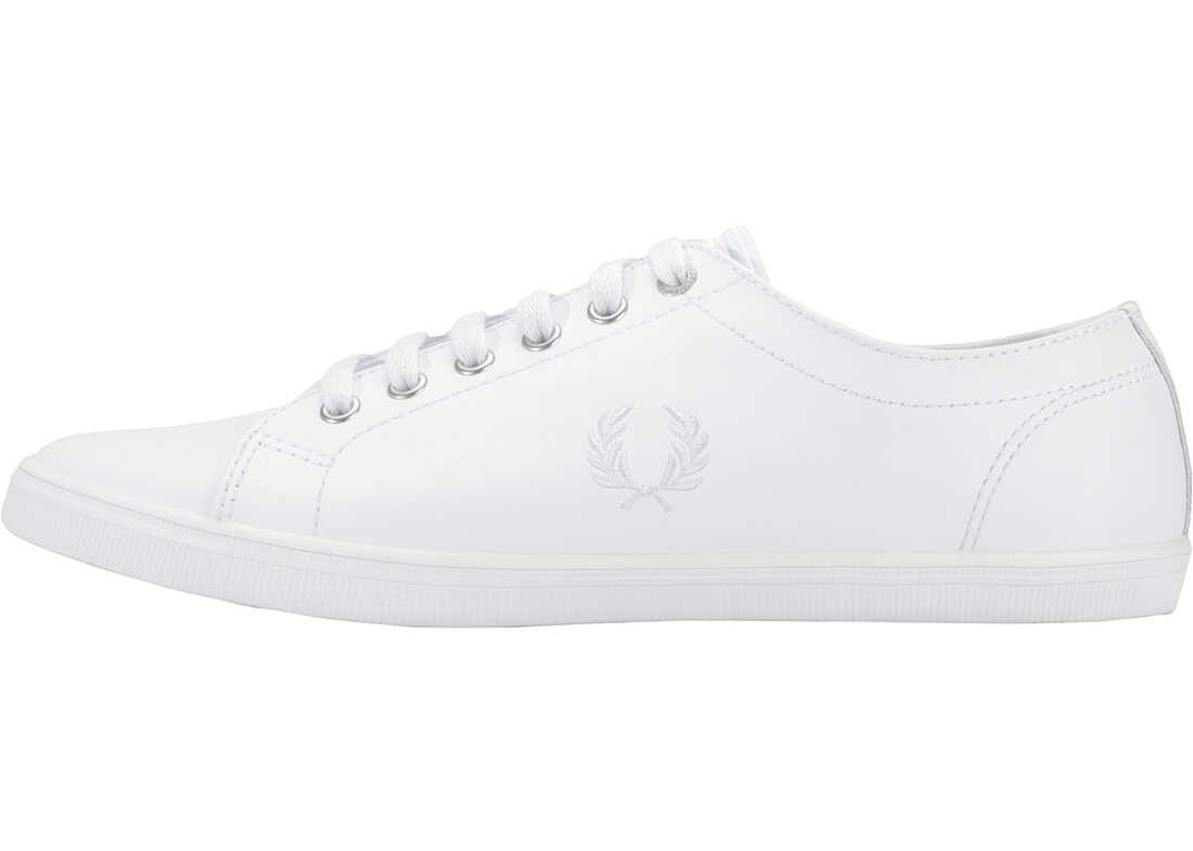 Fred Perry Kingston Unisex Trainers In White White White