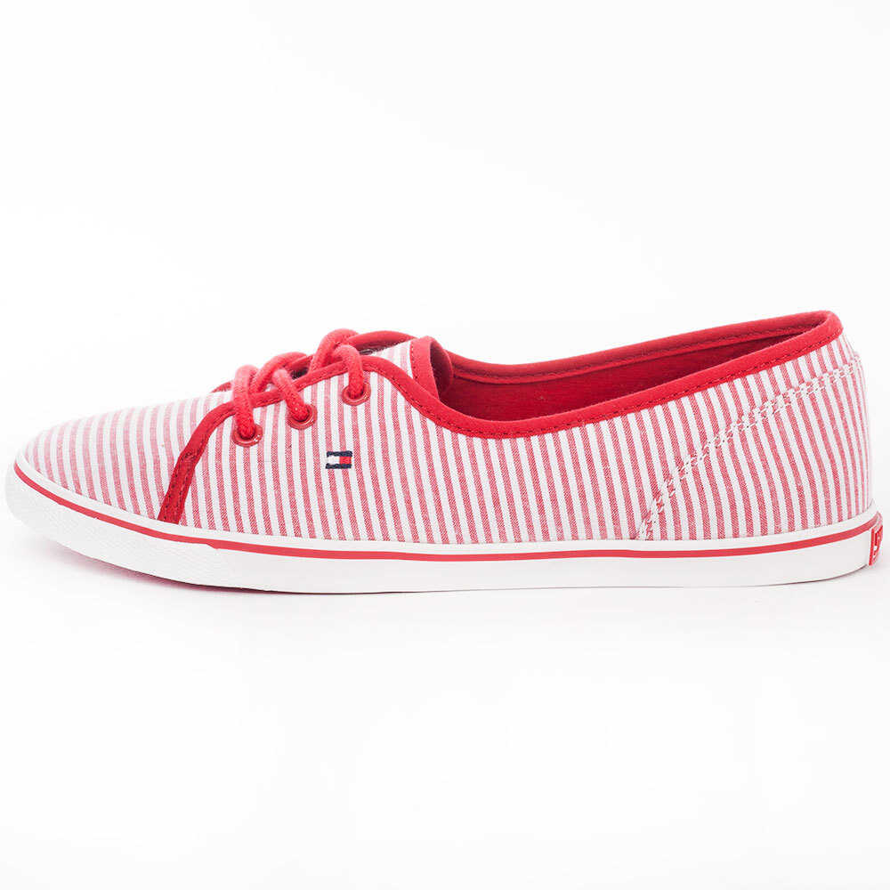 Tommy Hilfiger Kesha 11D1 Flats in White Red White