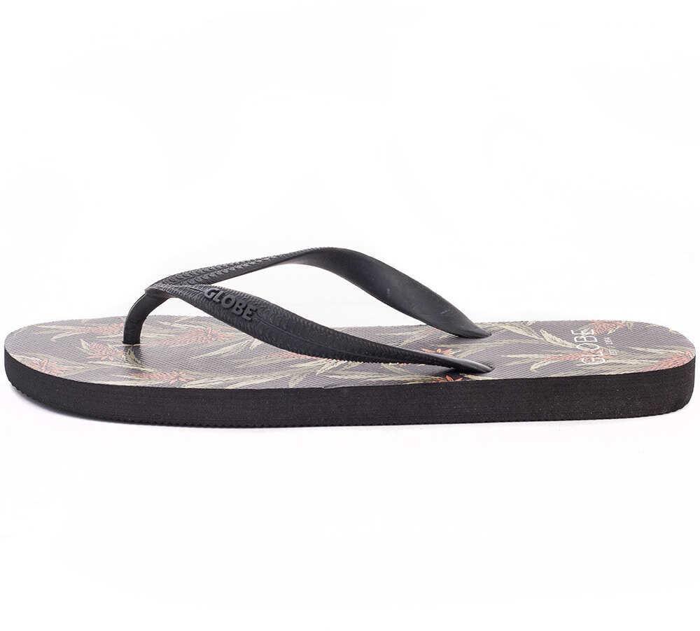 Slapi Barbati Globe Thistle Flip Flops In Charcoal