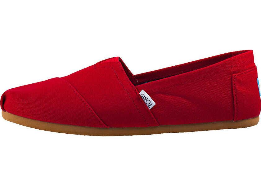 Espadrile Dama TOMS Classic Slip On In Red