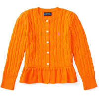 Pulovere Cable Cotton Peplum Cardigan Fete