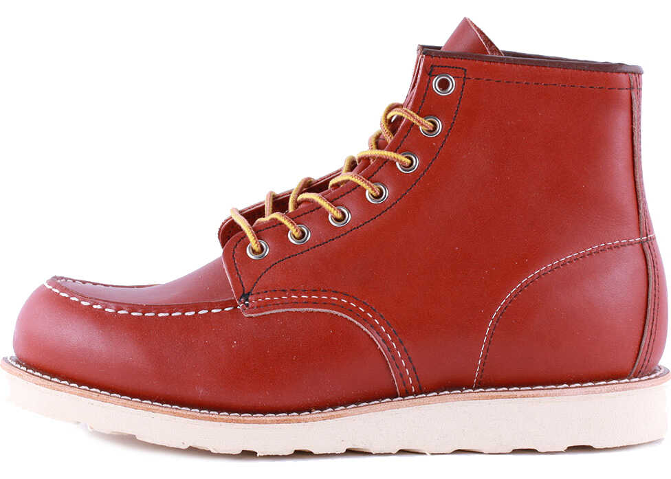 Red Wing 6-Inch Classic Moc Toe Boots In Rust (Style No. 8131) Orange