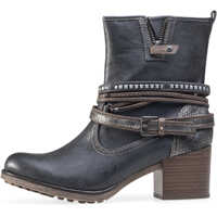 Ghete & Cizme Heel Ankle Boots In Anthracite Femei