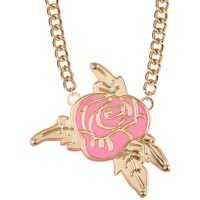 Coliere Rose Frontal Pendant Necklace* Femei