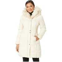 Geci de Iarna Faux Fur Trimmed Hood Winter Coat Femei
