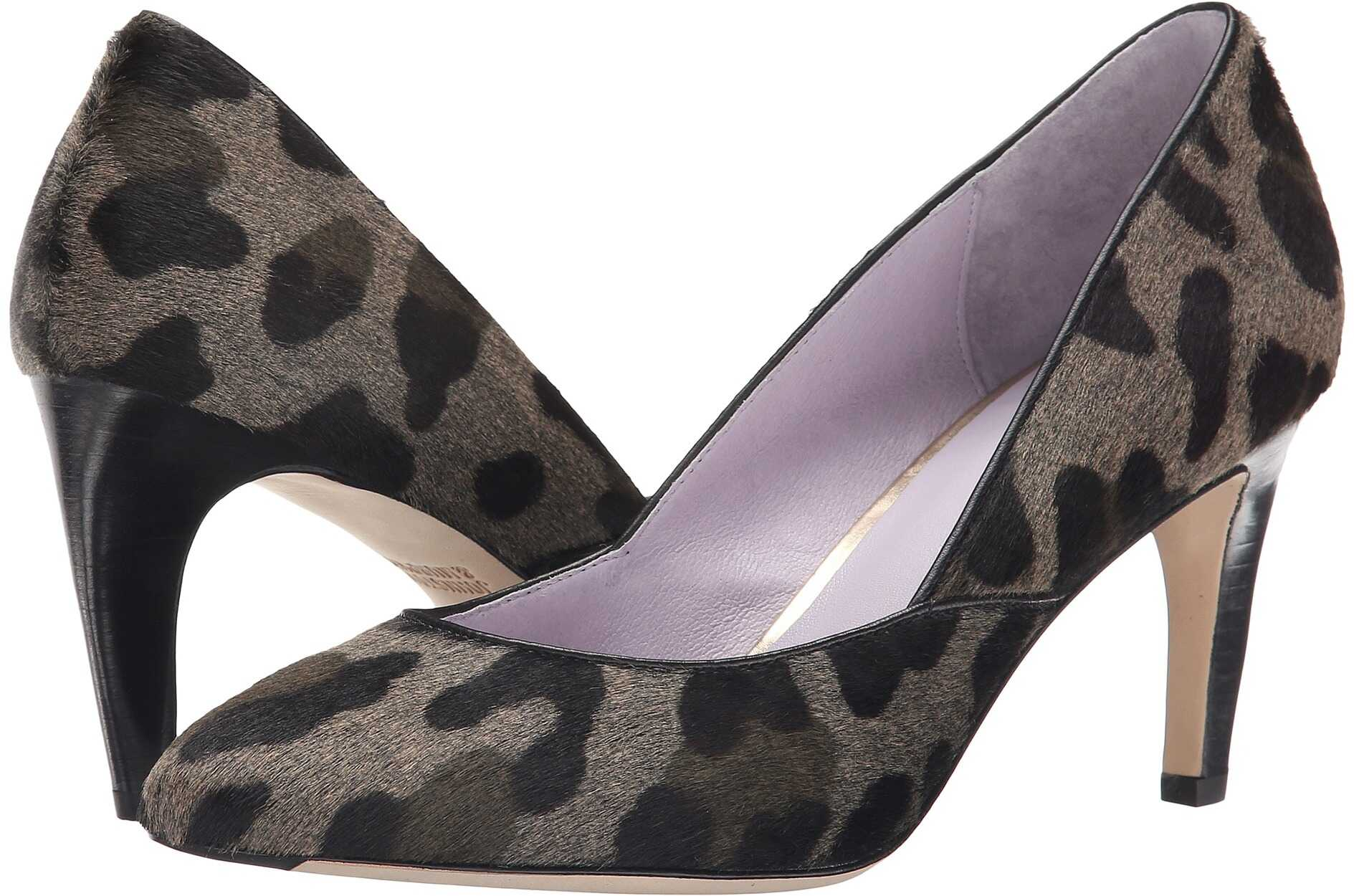 Johnston & Murphy Isabel Pump* Gray/Black Leopard Haircalf