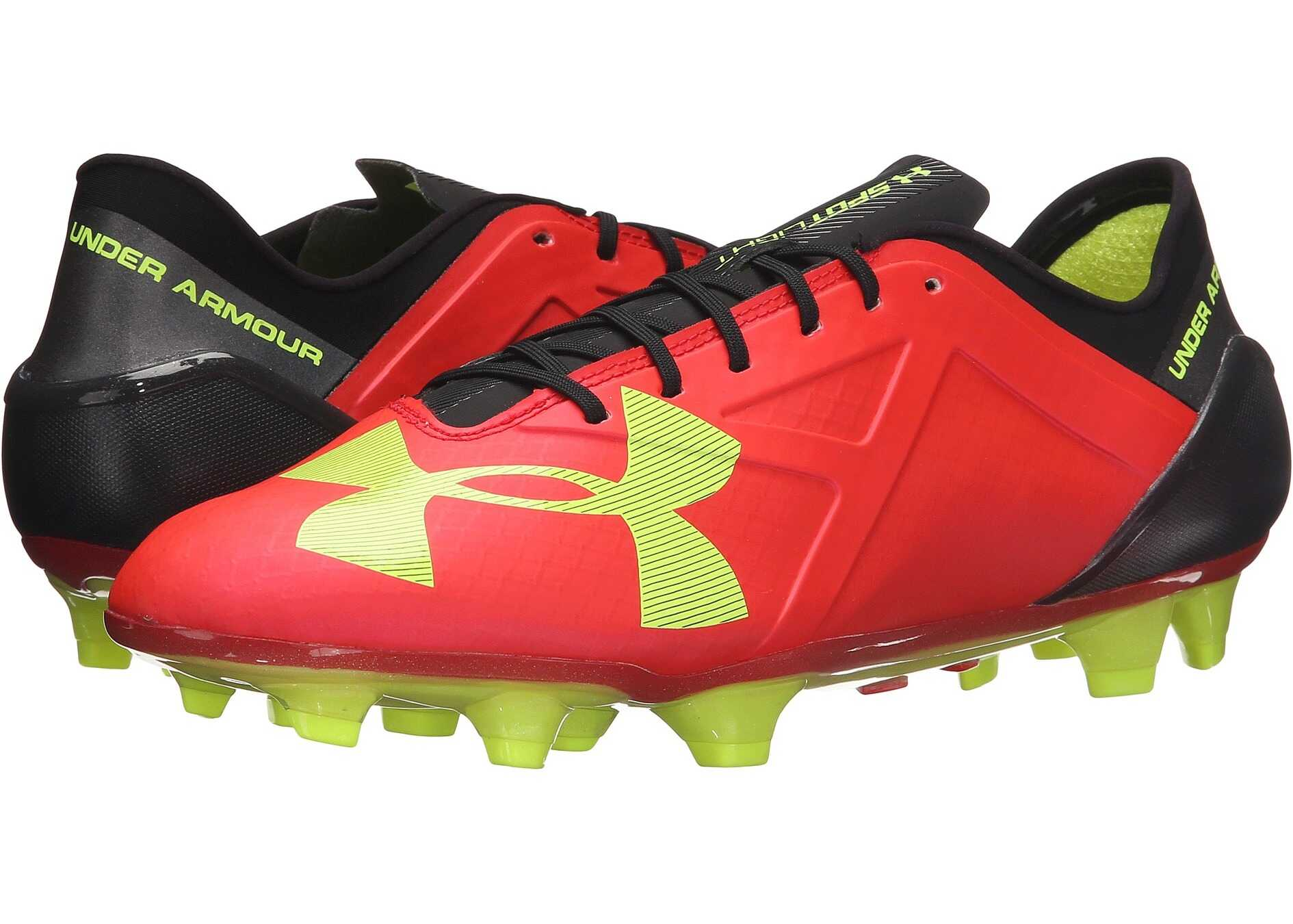 Under Armour UA Spotlight FG Rocket Red/High-Vis Yellow/Black