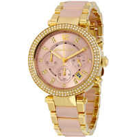 Ceasuri Fashion Parker Pink Dial Ladies Watch MK6326* Femei