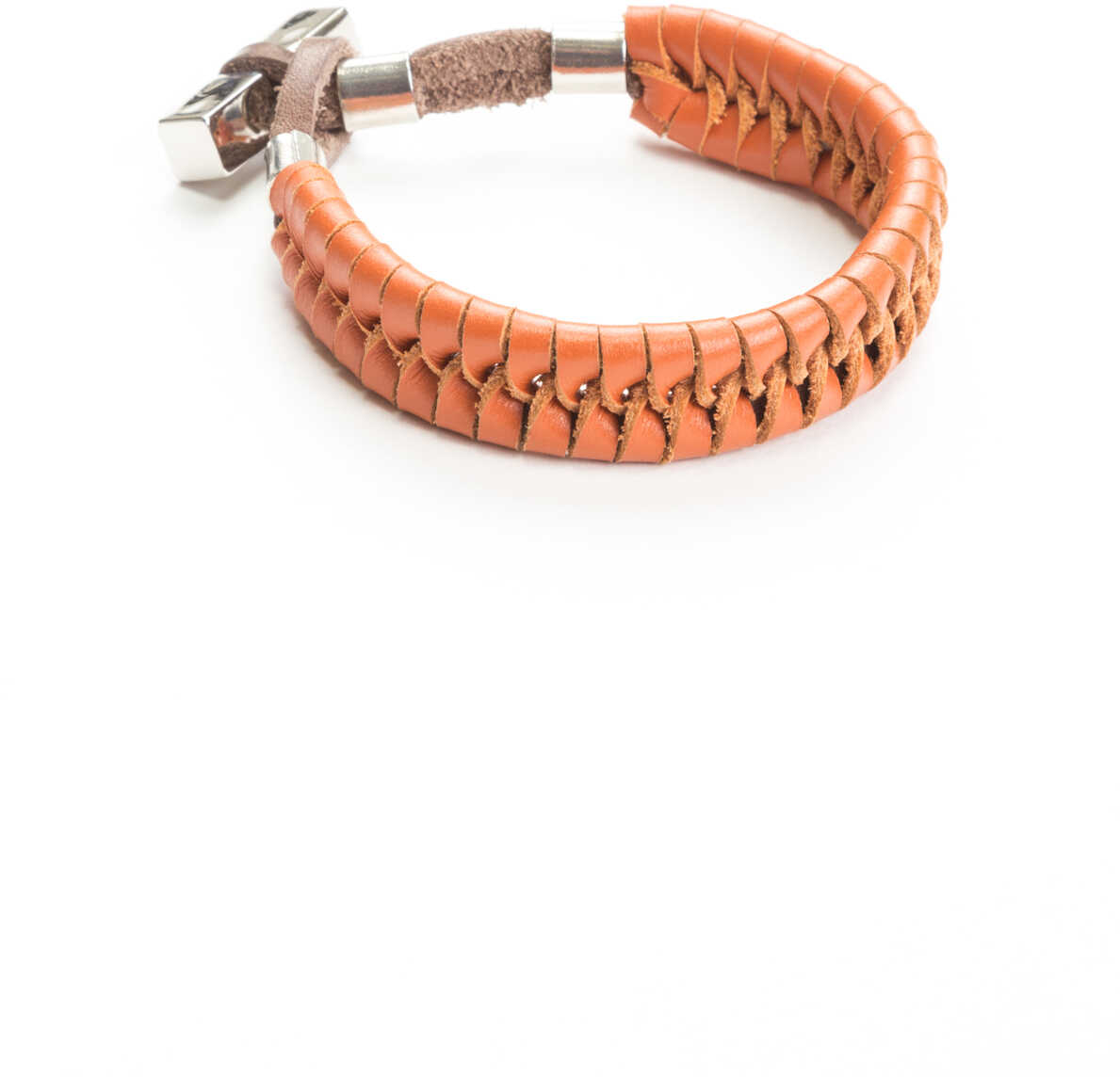Bratara Barbati Dsquared2 Leather Bracelet T.moro Arancio