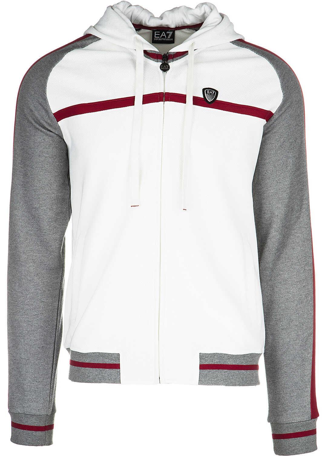 Bluza Barbati Ea7 Sweatshirt Sweat White