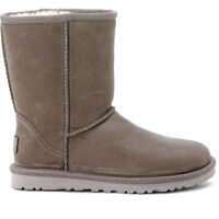 Ghete & Cizme Classic Short Boots In Grey Stressed Leather Femei