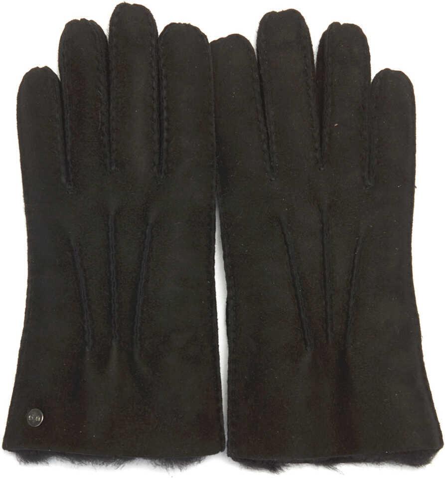 UGG Black Suede Gloves Black