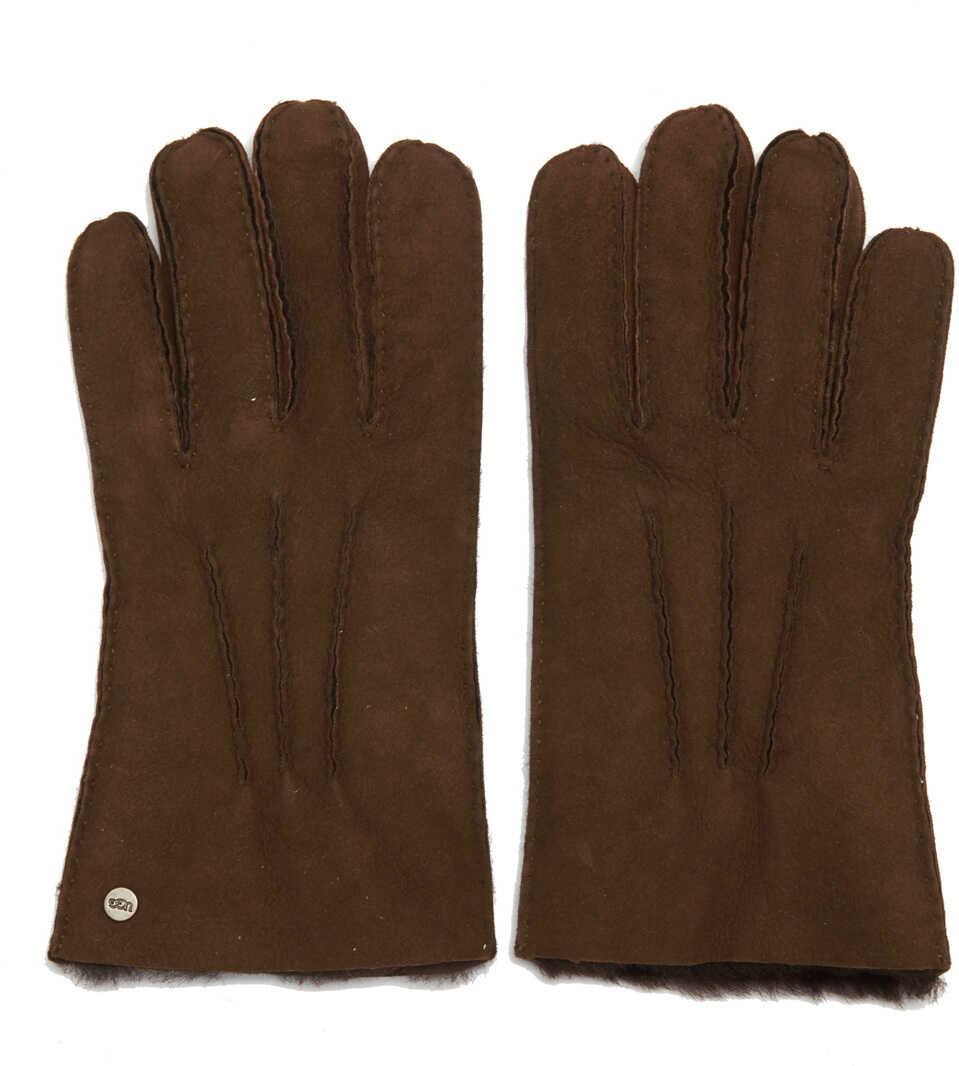 UGG Brown Suede Gloves Brown