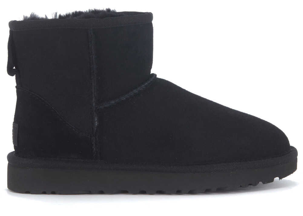 UGG Classic Ii Mini Ankle Boots In Black Suede Black