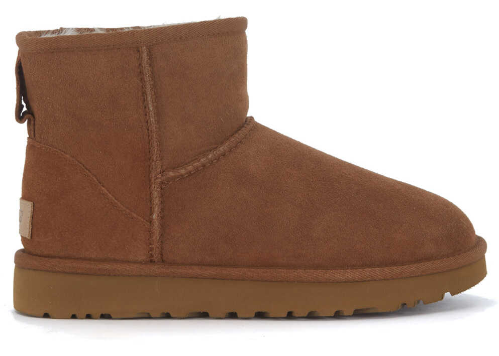 UGG Classic Ii Mini Ankle Boots In Brown Suede Brown