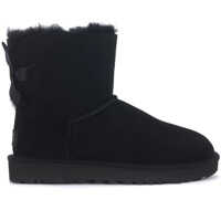 Ghete & Cizme Bailey Mini Anke Boots In Black Suede With Bow Femei