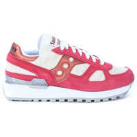 Tenisi & Adidasi Sneaker Saucony Shadow Limited Edition In Amaranth Red Suede And Zebra-Striped Fabric Femei