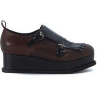 Platforme Dublin Mocassino In Black And Brown Brushed Vintage Leather Femei