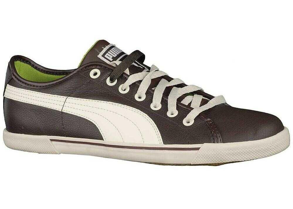 PUMA Benecio Leather 35103803 ALB/CAFENII