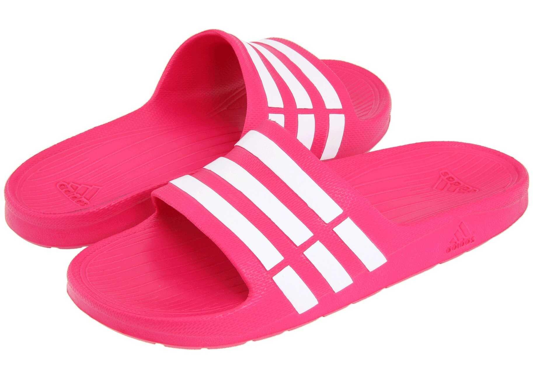 Adidas Kids Duramo Slide (Toddler/Little Kid/Big Kid) Pink Buzz/Running White/Pink Buzz