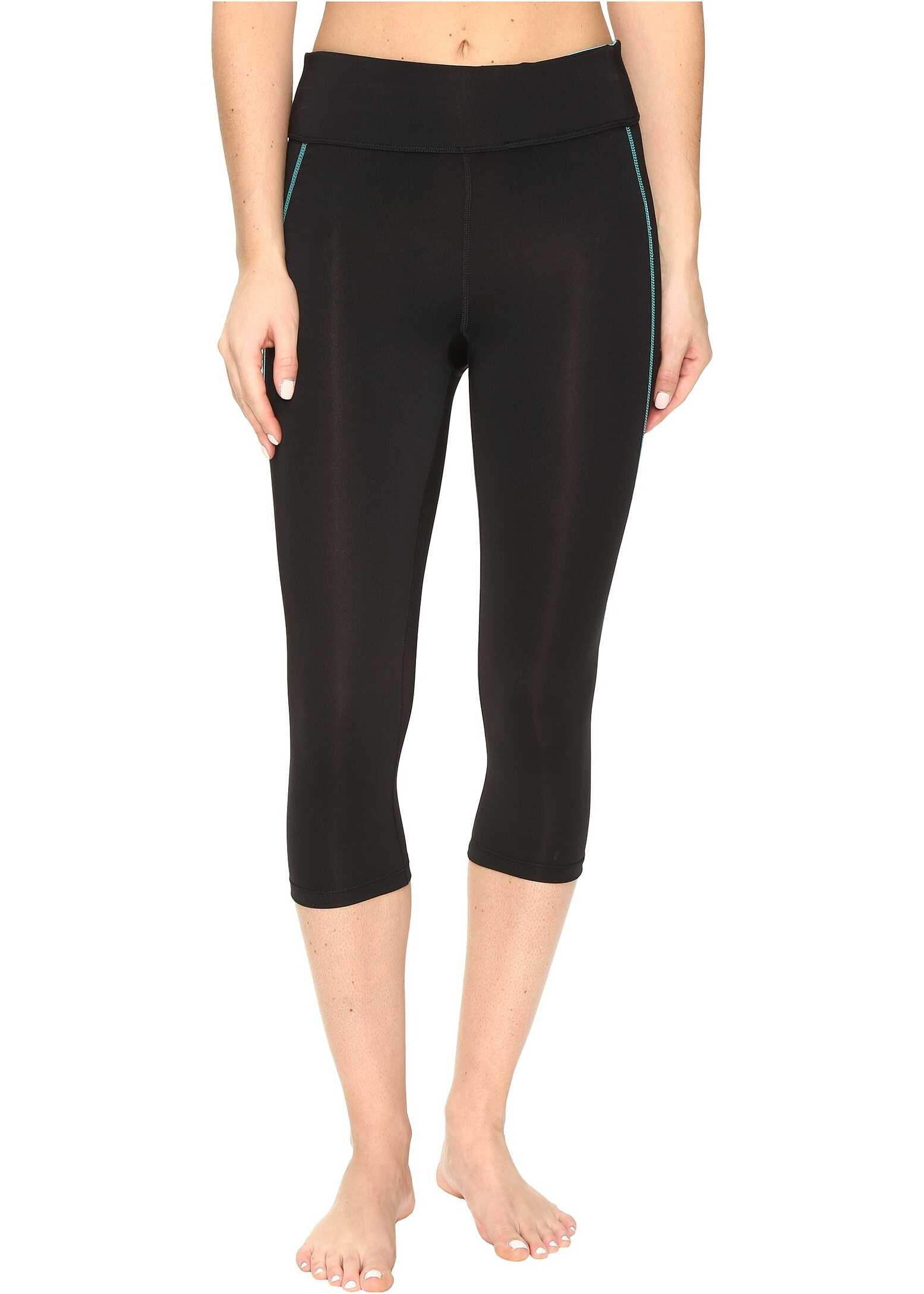 Pantaloni Femei Fila Spirit Tight Capris Black/vir