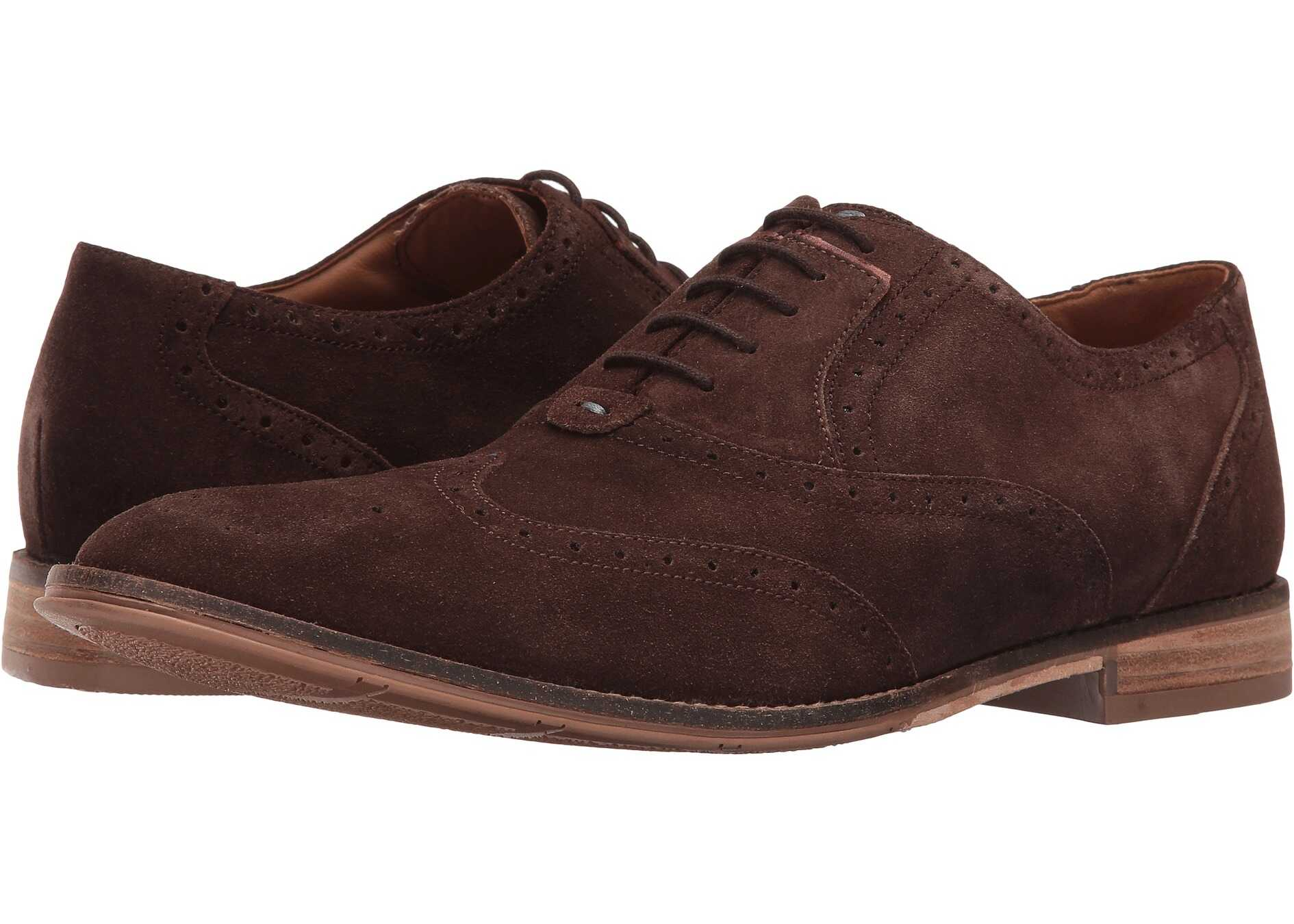Hush Puppies Style Brogue Dark Brown Suede
