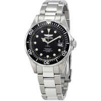 Ceasuri Fashion Pro Diver Black Dial Stainless Steel Mens Watch 17046 Barbati