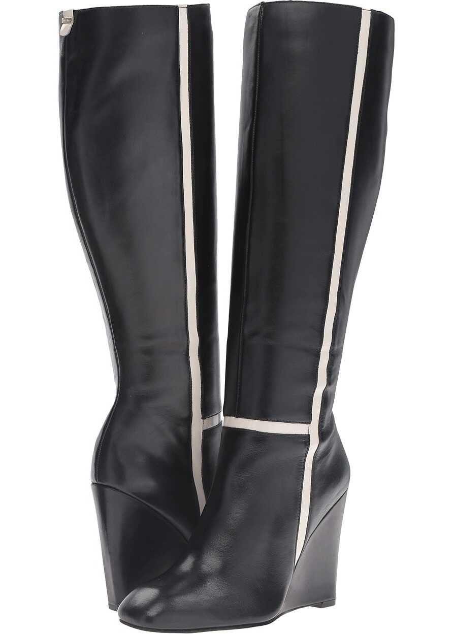 Calvin Klein Poloma Black/Soft White Leather/Patent
