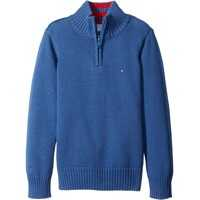 Pulovere Edward 1/2 Zip with Rib Stitch Sweater (Toddler/Little Kids) Baieti