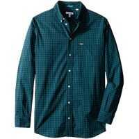 Camasi Sport Long Sleeve Check Poplin Woven Shirt (Little Kids/Big Kids) Baieti
