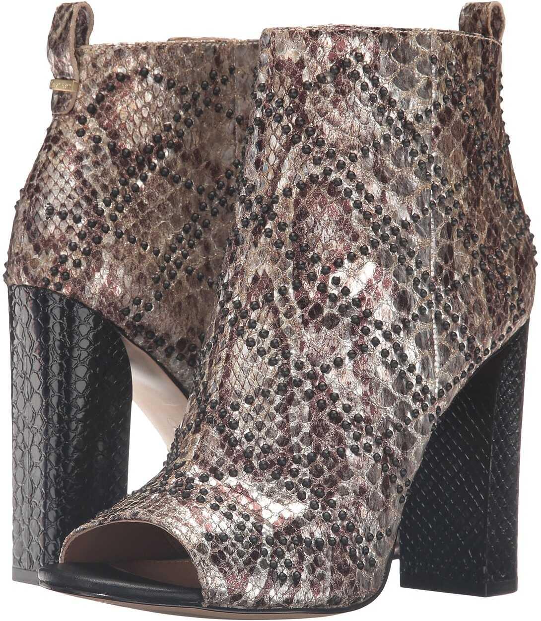 Calvin Klein Jules Gold Foiled Snake Print Leather