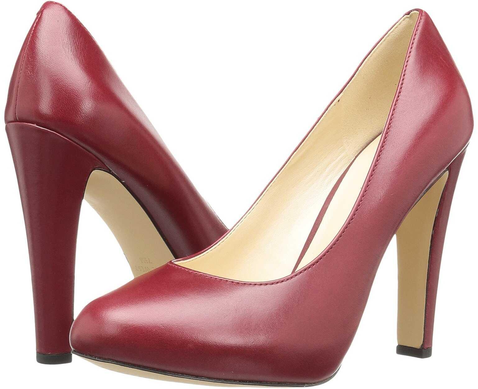 Pantofi Cu Toc Nine West Brielyn Dark Red Leather