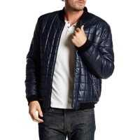 Geci de Piele Faux Leather Box Quilted Varsity Bomber Jacket* Barbati