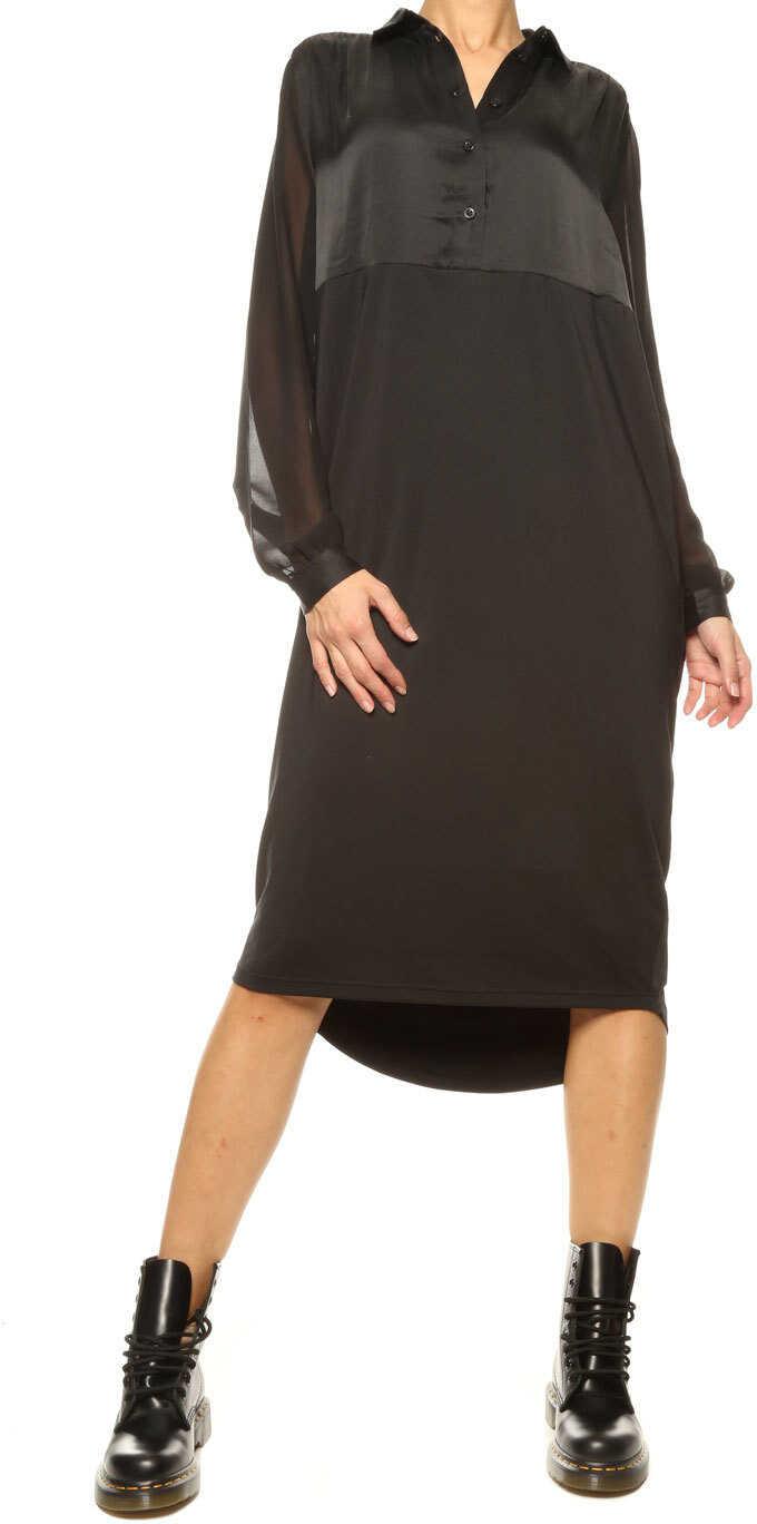 5 Preview Shirt Dress* Black