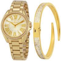 Ceasuri Fashion Kacie Gold Sunray Dial Ladies Watch Set MK3568* Femei