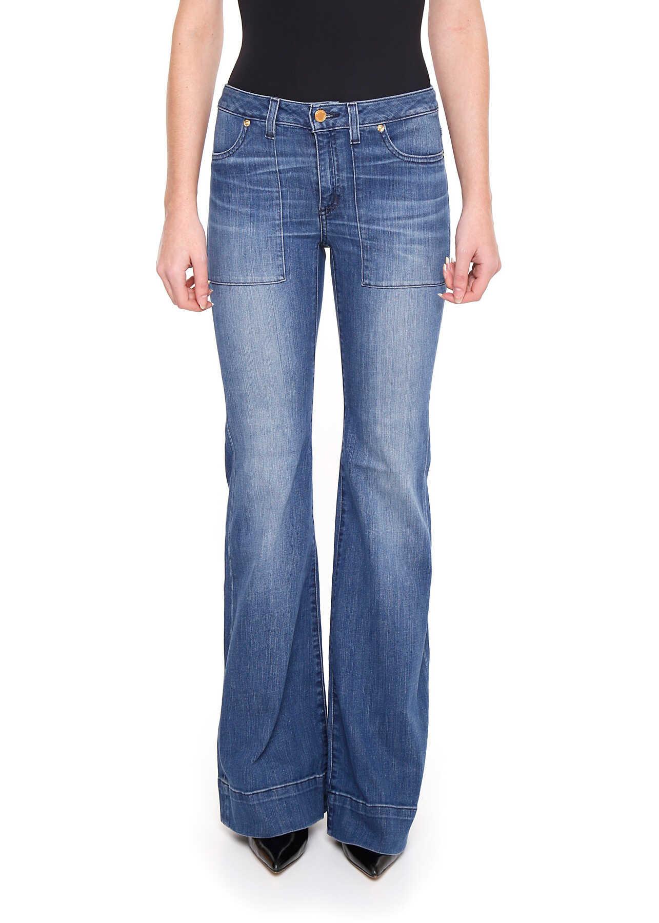Michael Kors Patch Flare Jeans VINT BL WASH
