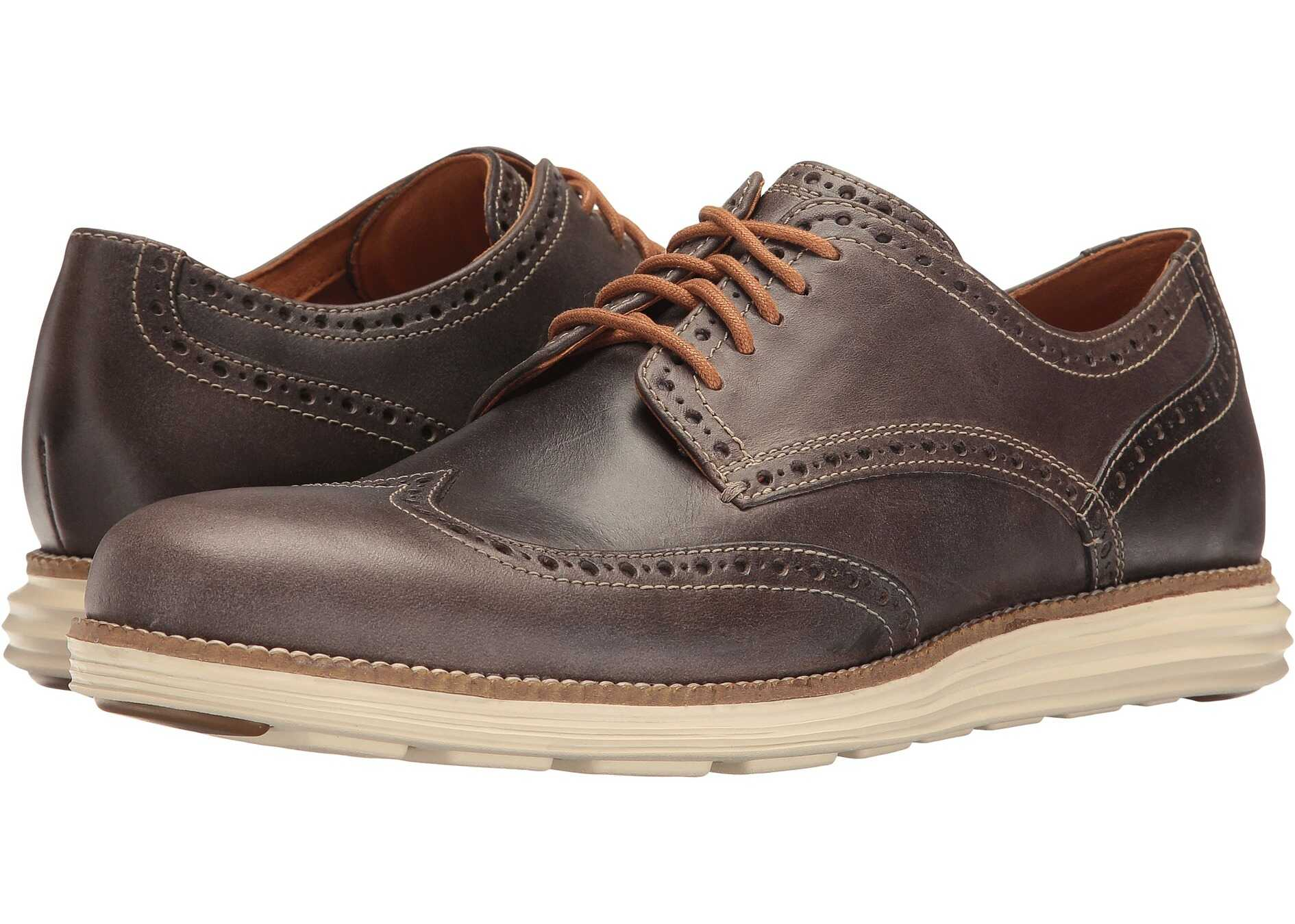 Cole Haan Original Grand Wing Oxford Sea Otter Leather/Ivory