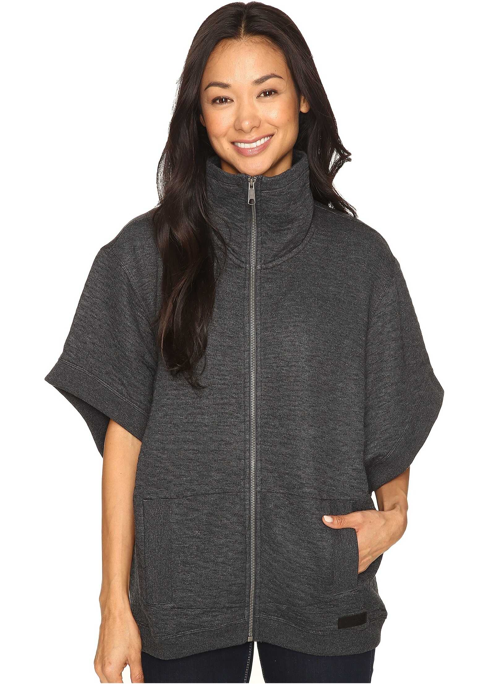 Merrell Kota Quilted Poncho Black Heather